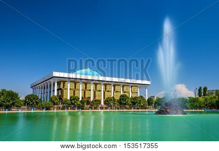 The Building of the Parliament of Uzbekistan in Tashkent