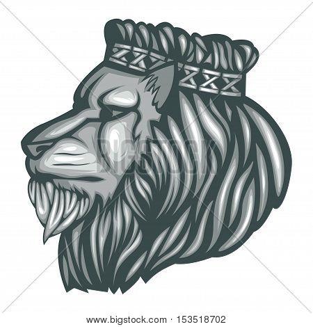 Lion King Vector Head Royalty Tattoo Feline Wild Mascot Logo