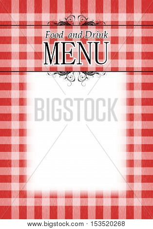 menu design on a white background in the red cell