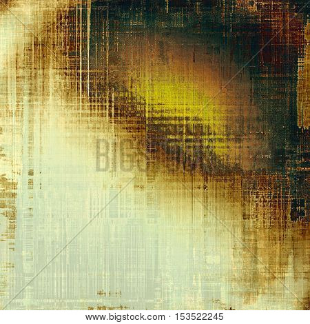 Stylish grunge texture, old damaged background. With different color patterns: yellow (beige); brown; gray; green; red (orange); white