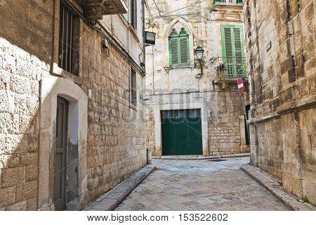Image of an alleyway of Rutigliano. Puglia. Italy.