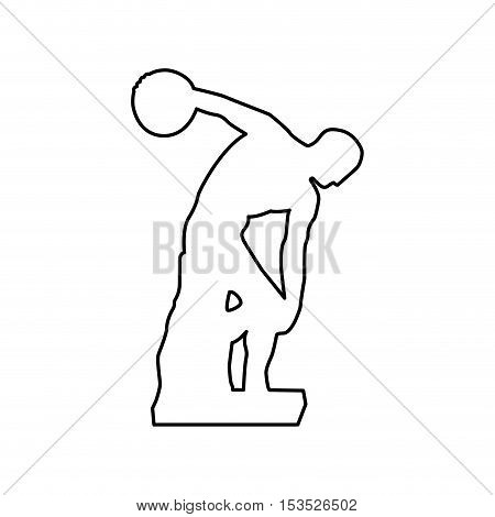discus thrower or discobolus sculpture icon image vector illustration design