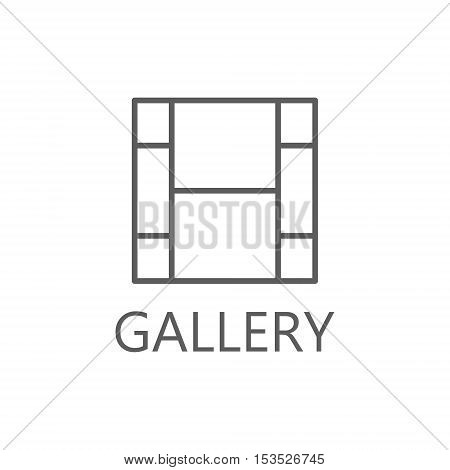 Gallery icon, simple gallery line icon gallery symbol. High quality outline pictigram for design website or mobile app. Vector thin line illustration of gallery.