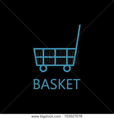Shopping cart icon. Shopping cart line icon. High quality outline pictigram for design website or mobile app. Vector thin line illustration of shopping cart.