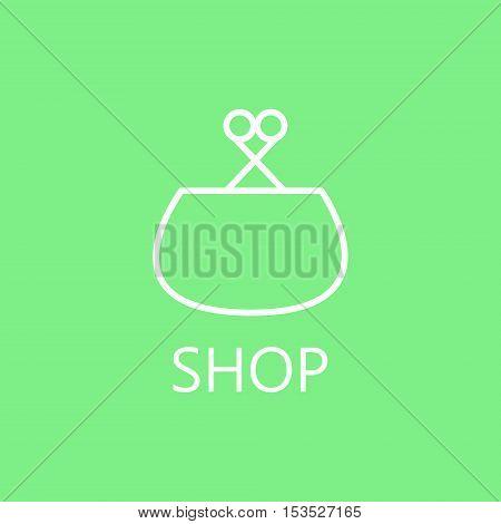 Wallet line icon. Vector concept illustration for design. High quality outline pictigram for design website or mobile app. Vector thin line illustration of wallet.