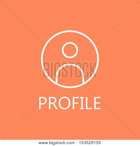 Businessman line icon. Web profile line icon. High quality outline pictigram for design website or mobile app. Vector thin line illustration of profile, man, businessman.