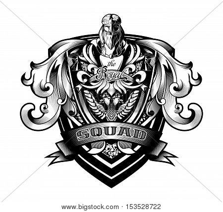 Ornamental Baroque Heraldry Shield