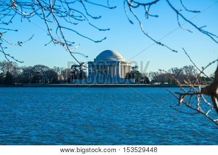 The Thomas Jefferson Memorial (built 1939-1943), Washington Dc, Usa