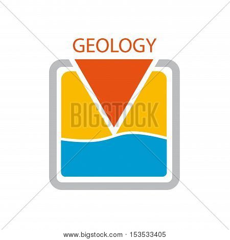 Vector sign geologist. Search of water isolated ilustration
