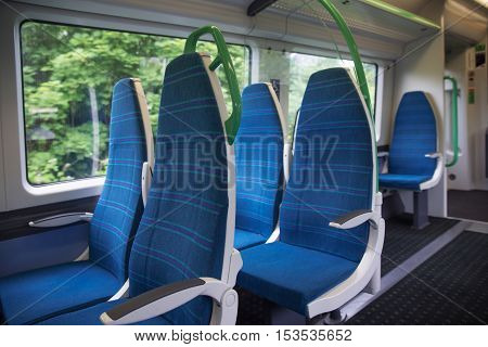 Electric Train Sits Interior Express