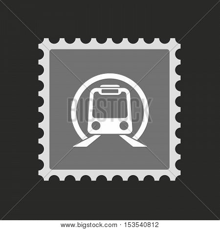 Isolated Mail Stamp Icon With  A Subway Train Icon
