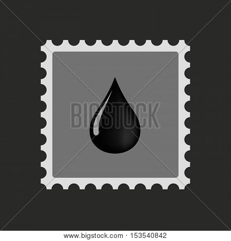 Isolated Mail Stamp Icon With  An Oil Drop Icon