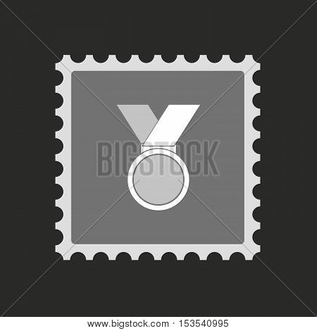 Isolated Mail Stamp Icon With  A Medal