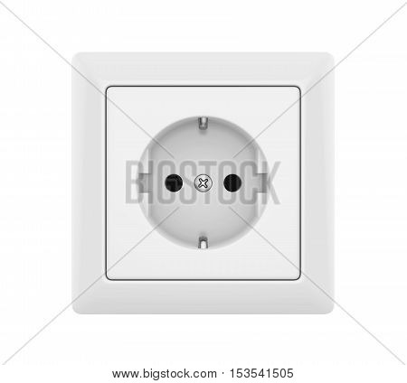 Electric Socket isolated on white background. 3D render