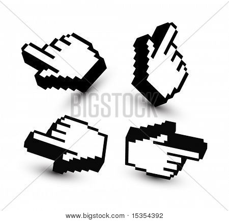 3d hand pointers