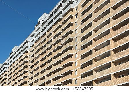 the new multi-storey residential building close up