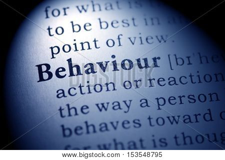 Fake Dictionary Dictionary definition of the word behaviour.