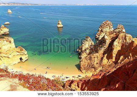 Camilo beach (Praia do Camilo) in Lagos, Algarve, Portugal