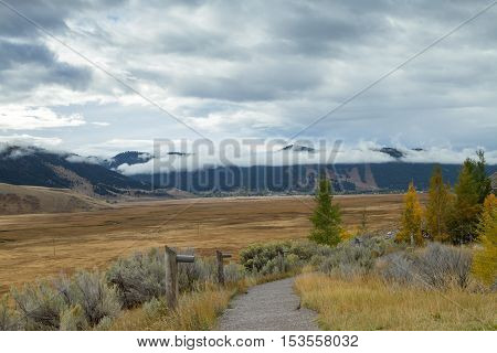 A cloudy day at the National Elk Refuge in Wyoming