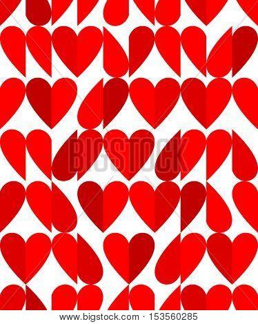 Heart shape seamless pattern Flat style valentine seamless pattern