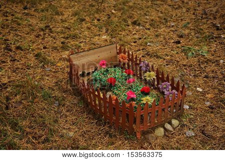 Pet Cemetery In The Forest