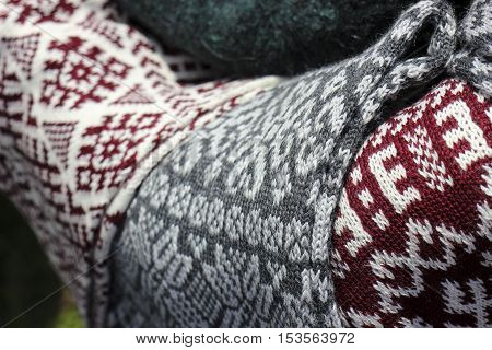 Latvian beautiful knitwear with traditional force plates.