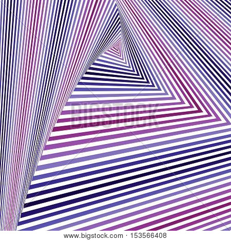 Whirling Magenta, Blue And White Triangle Forms