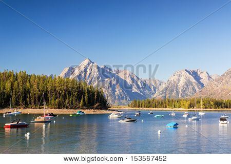 Boats In Colter Bay