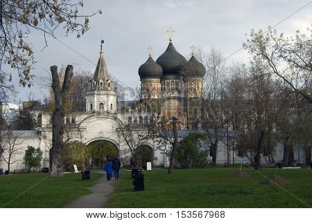 Architecture of Izmailovo in Moscow historic place Romanoff's dinasty manor. Popular landmark and place for walking. Color photo.