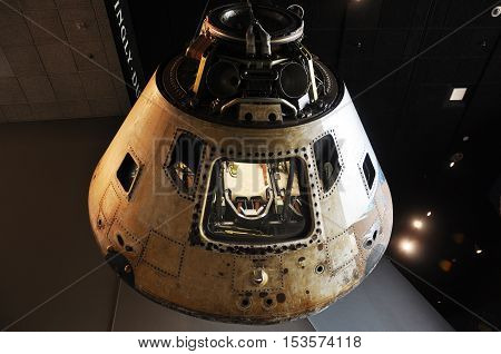 WASHINGTON DC - AUG 10, 2010: Apollo Command Module Skylab 4 in National Air and Space Museum, Washington DC, USA.