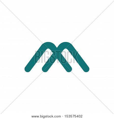 M letter initial logo design, letter logo design