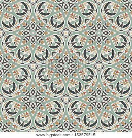 Seamless pattern.lace Vintage decorative ornament. Hand drawn background. Islamic round pattern ottoman motifs.