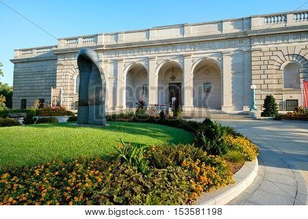 WASHINGTON D.C.,USA - AUGUST 13,2016 : The Freer Gallery of Art at the National Mall in Washington D.C.