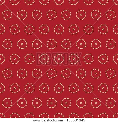 Background Pattern With Stylized Flowers