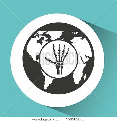 symbol x-ray hand medical icon vector illustration eps 10