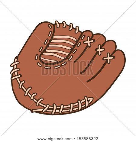 baseball mitt icon image vector illustration design