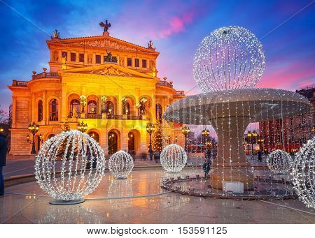 Alte Oper in Frankfurt, Germany