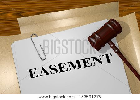 Easement - Legal Concept