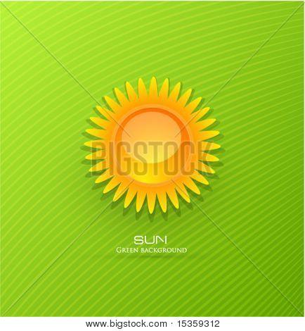 Vektor-Sonne-Hintergrund