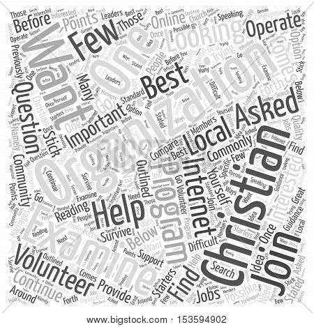 Which Christian Organizations Should You Join word cloud concept