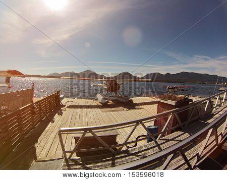seaplane in alaska pier  ready for flight
