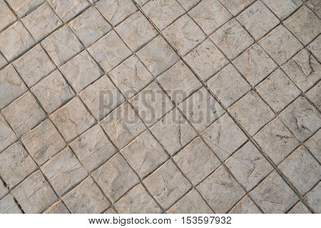 Stamp concrete texture pattern and background for outdoot floor finishing.