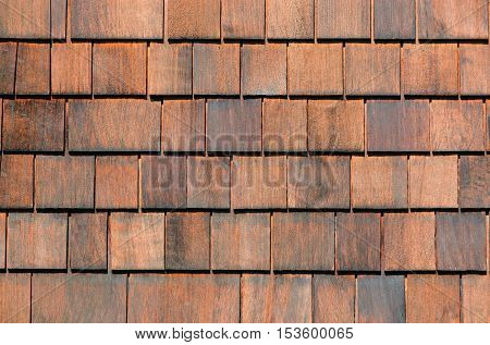 Old wood shingles wall. Wooden shingles texture