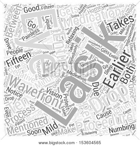 What is a Wavefront Lasik Procedure Like word cloud concept