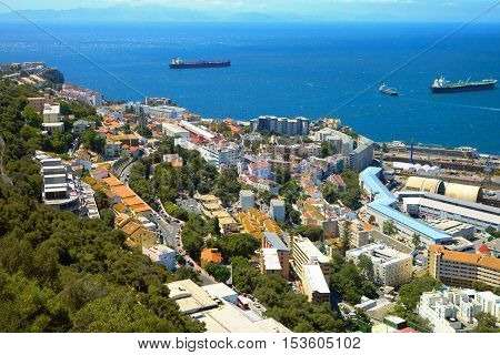 Housing estate on the coast of Gibraltar.