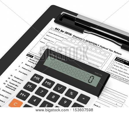 Employers Quarterly Federal Tax Return Form And Calculator