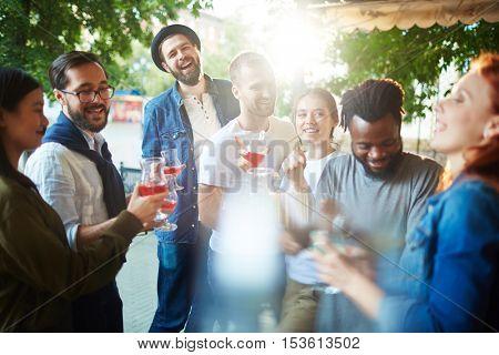 Enjoying hangout