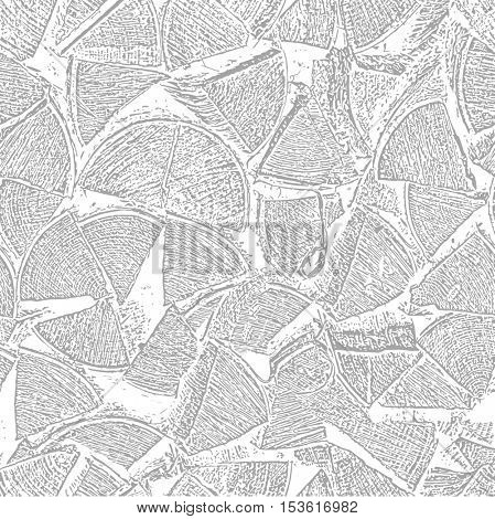 Seamless from stack of wood. Firewood texture. Vector illustration