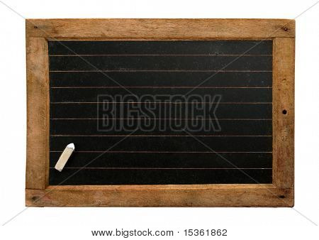 Vintage school blackboard with lines and chalk