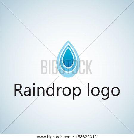 raindrop logo ideas design vector illustration on background